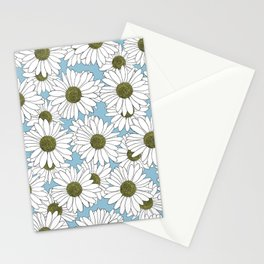 Daisy Blue Stationery Cards