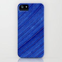blue leaf II iPhone Case