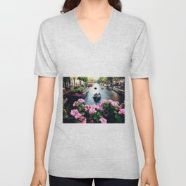 in love with Amster  Unisex V-Neck