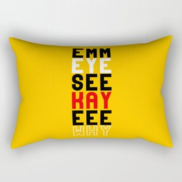 Mickey on Yellow Rectangular Pillow