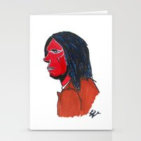 neil young Stationery Cards featuring Neil Young by Brian Shunk