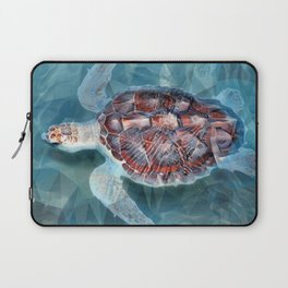 Sea Turtle In The Waves Laptop Sleeve