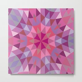 Pink & Mauve Pattern Metal Print