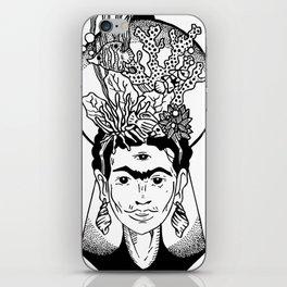 Frida en el caribe iPhone Skin