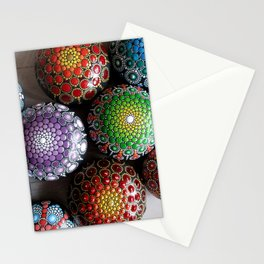 Bright mandala of stones Stationery Cards