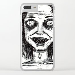 CRAZY DUDE Clear iPhone Case