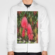 Wild fluffy red flowers Hoody