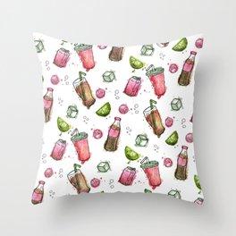 Cola Bottles Pattern Throw Pillow
