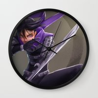 sonic Wall Clocks featuring Sonic by Steve Millers Art