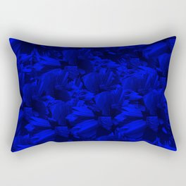 A202 Rich Blue and Black Abstract Design Rectangular Pillow
