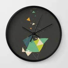 Exploding Triangles//Six Wall Clock