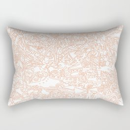 These Lines [We Draw] Rectangular Pillow