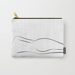 Minimalistic line drawing of a nude woman Carry-All Pouch