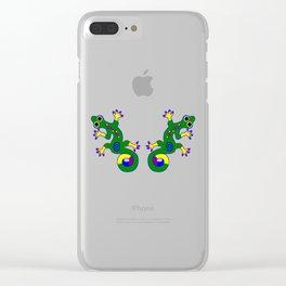 Tribal Geckos Clear iPhone Case