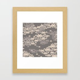 Space Invader Camo Framed Art Print