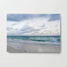 Peaceful Beach Metal Print