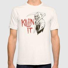 Killin It Mens Fitted Tee MEDIUM Natural