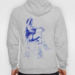 Lady Ultramarine.  Леди Ультрамарин. INK ART. Yury Fadeev Hoody