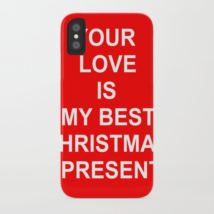 Christmas Red iPhone Case