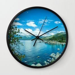 Photo USA Lake Tahoe Nature Sky Scenery Coast Ston Wall Clock