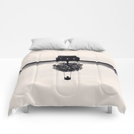 Drift Away (b&w) Comforters