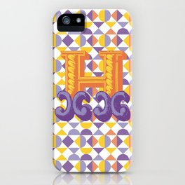 Letter H iPhone Case