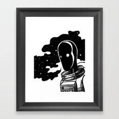 A Lot On My Mind Framed Art Print