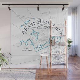 East Hampton Vintage Map Wall Mural