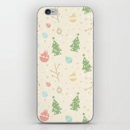 Simple christmas vector pattern iPhone Skin