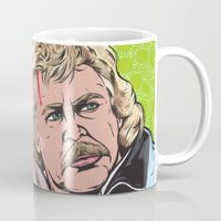 caleb troy Mugs featuring Troy and Rowsdower by turddemon