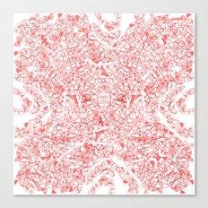 Red butterflies Canvas Print