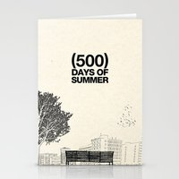 500 days of summer Stationery Cards featuring (500) Days of Summer by Martin Lucas