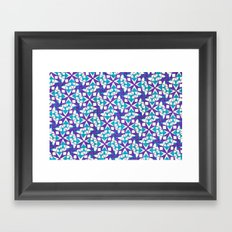 Teal and Purple Stars Framed Art Print