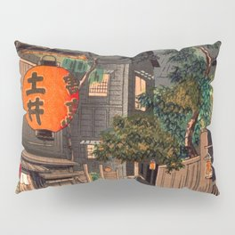 Tsuchiya Koitsu - Evening at Ushigome - Japanese Vintage Woodblock Painting Pillow Sham