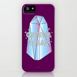 Crystal Clear – Revision iPhone Case