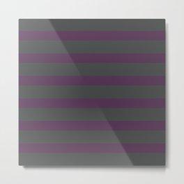 Dark Purple on Gray Background Metal Print