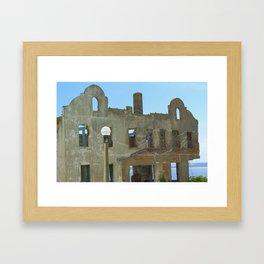 Hollowed-out Alcatraz Building Framed Art Print