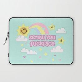 Screw You Fuckface! - with cuteness Laptop Sleeve
