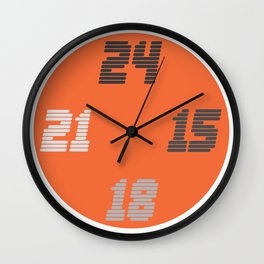 Number 6 of a series of 10 | TypoClocks Wall Clock