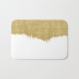 White & Gold Bath Mat