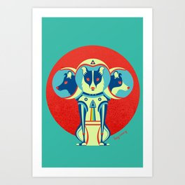 Spacedogs Art Print