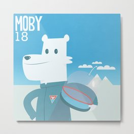 Moby the bear  Metal Print