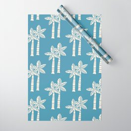 Palm Tree Pattern Blue 22 Wrapping Paper