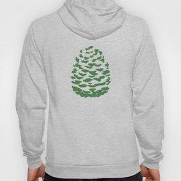 Pinecone Green and White Hoody