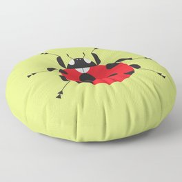 Lady Bug Yellow Floor Pillow
