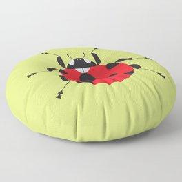 Lady Bug Yellow Floor Pillow