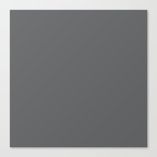 Simply Storm Gray Canvas Print