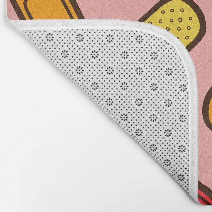 Rainbow Band-Aids Bath Mat