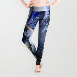 Blue Fairy and Butterflies Leggings