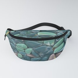 green glass stones pattern Fanny Pack